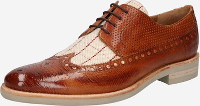 Scarpa stringata 'CLINT 34' MELVIN & HAMILTON di colore beige / marrone / rosso chiaro, Visualizzazione prodotti