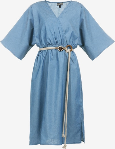 DreiMaster Vintage Kleid in blue denim, Produktansicht