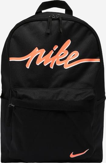 Nike Sportswear Rucksack 'Heritage 2.0' in orangerot / schwarz / weiß, Produktansicht