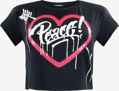 trueprodigy Shirt 'Peace And Harmony' in de kleur Pink / Zwart / Wit, Productweergave
