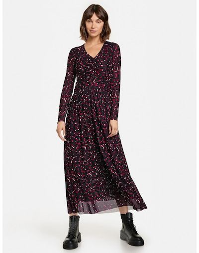 TAIFUN Dress in Raspberry / Red / Black / White, View model