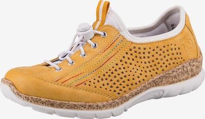 RIEKER Schnürschuh in gelb / weiß, Produktansicht