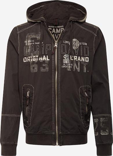 CAMP DAVID Bluza rozpinana w kolorze czarny / białym, Podgląd produktu