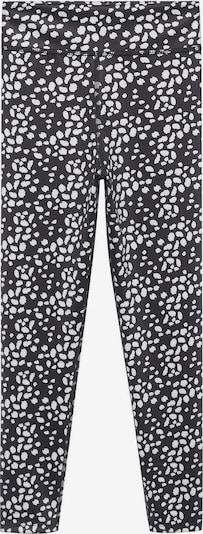 Leggings 'Palmp' MANGO KIDS pe negru / alb, Vizualizare produs