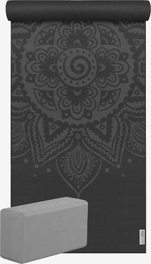 YOGISTAR.COM Yoga-Set Starter Edition - Spiral Mandala (Yogamatte + 1 Yogablock) in türkis / schwarz, Produktansicht