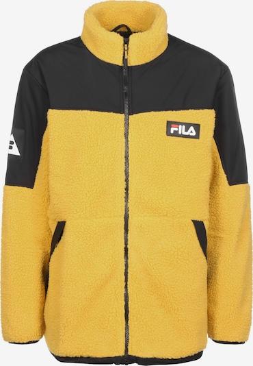 FILA Fleece jas 'Bianco Manolo' in de kleur Geel / Zwart, Productweergave