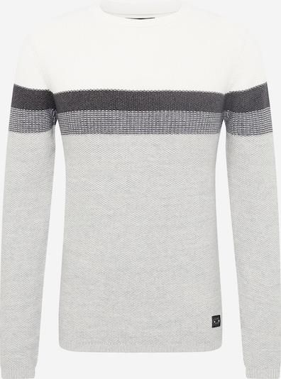 Key Largo Pullover 'HANSI' in grau / dunkelgrau / schwarz / weiß, Produktansicht