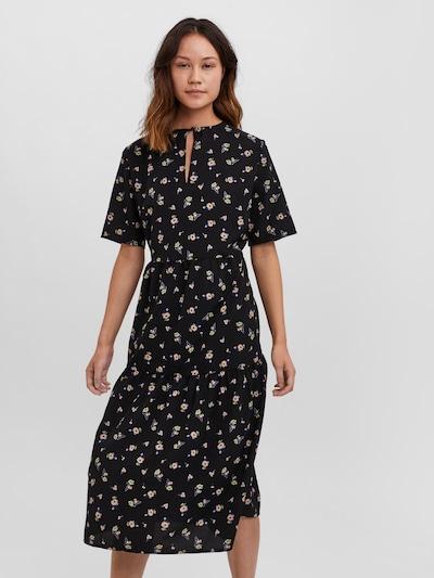VERO MODA Kleid in dunkelblau / pastellgrün / pastelllila / pfirsich / schwarz, Modelansicht
