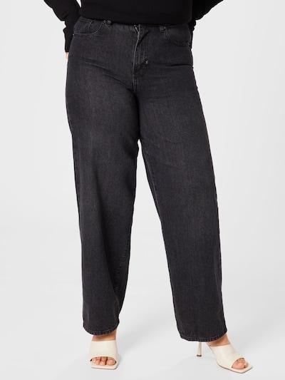 Urban Classics Curvy Jeans in black denim, Modelansicht