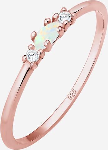 ELLI Ring 'Opal' in Goud