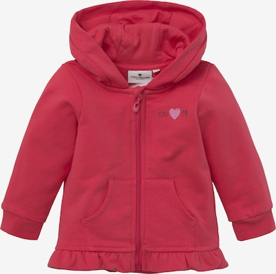 TOM TAILOR Sweatjacke in rot, Produktansicht