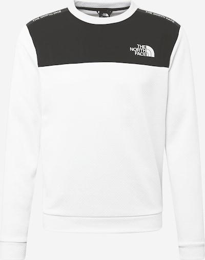 THE NORTH FACE Sportsweatshirt 'Train' in de kleur Zwart / Wit, Productweergave