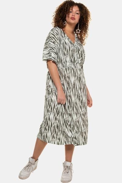 Studio Untold Kleid in khaki / offwhite, Modelansicht