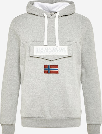 NAPAPIJRI Sweat-shirt en bleu / gris / rouge / blanc, Vue avec produit