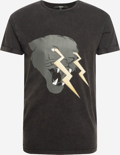 Tricou 'Electrified Panther Zander' tigha pe galben deschis / gri / negru / alb, Vizualizare produs