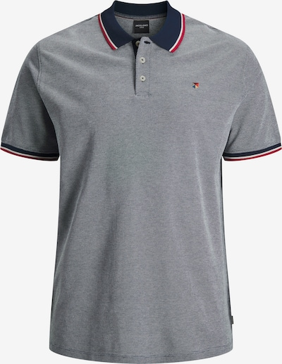 Jack & Jones Plus Shirt 'Winblu' in navy / grey mottled / carmine red / white, Item view