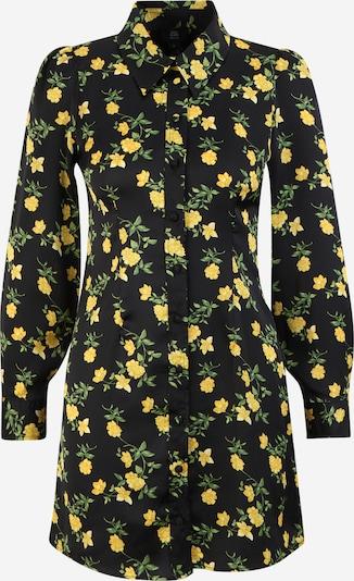 River Island Petite Shirt Dress in Yellow / Green / Black, Item view