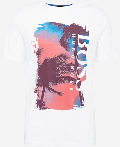 BOSS Casual T-Krekls 'Tsummery' debeszils / vecrozā / melns / gandrīz balts, Preces skats