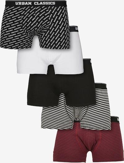 Urban Classics Boxershorts in burgunder / schwarz / weiß, Produktansicht