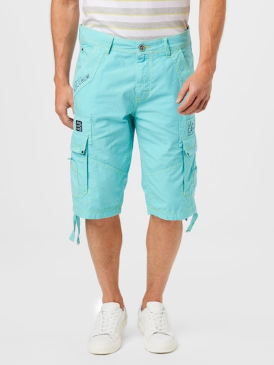CAMP DAVID Pantalon cargo en bleu, Vue avec modèle