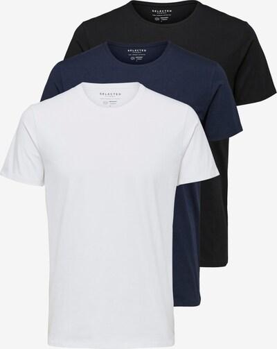 SELECTED HOMME Bluser & t-shirts i mørkeblå / sort / hvid, Produktvisning
