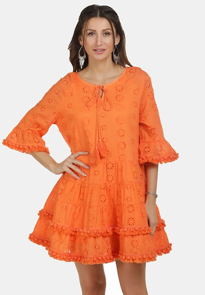 IZIA Kleid in orange, Modelansicht