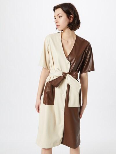 Gina Tricot Kleid 'Stina' in beige / braun, Modelansicht