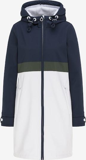 DreiMaster Maritim Functionele mantel in de kleur Nachtblauw / Olijfgroen / Wit, Productweergave
