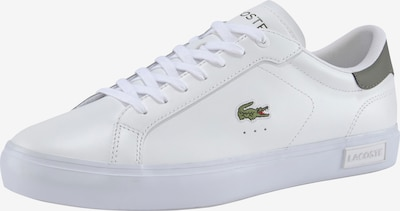 LACOSTE Sneaker in grasgrün / rot / weiß, Produktansicht