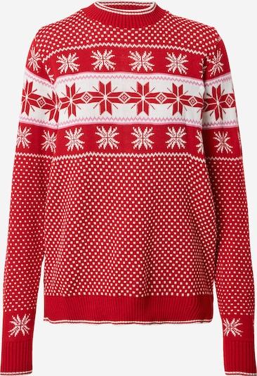 Missguided Petite Pullover in rot / weiß, Produktansicht