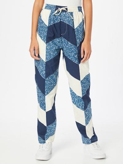 Lollys Laundry Hose 'Bill' in creme / marine / taubenblau, Modelansicht