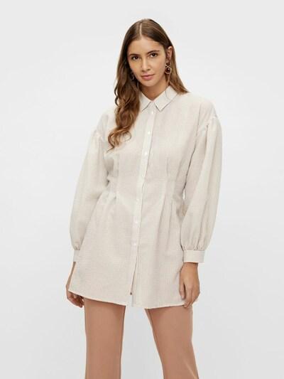 Y.A.S Langarmhemd in beige / weiß, Modelansicht