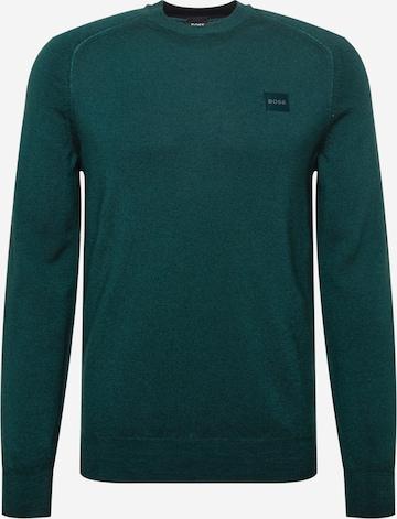 BOSS Casual Kampsun 'Anserlot', värv roheline