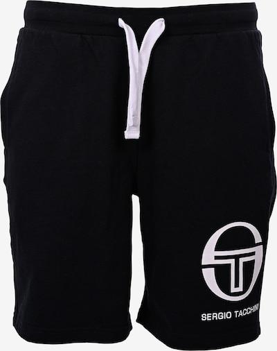 Sergio Tacchini Sweatshorts 'Oasis' in schwarz / weiß, Produktansicht