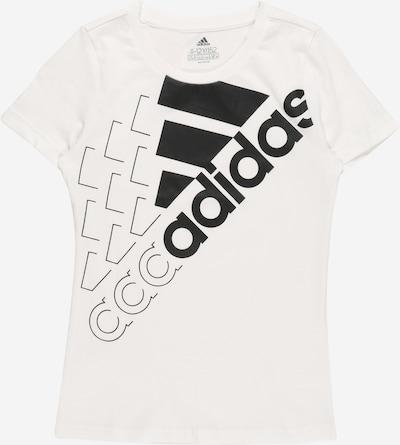 ADIDAS PERFORMANCE T-Krekls, krāsa - melns / balts, Preces skats