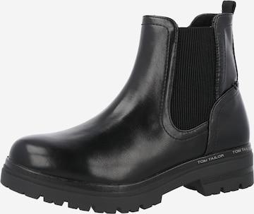 TOM TAILOR Chelsea Boots i svart