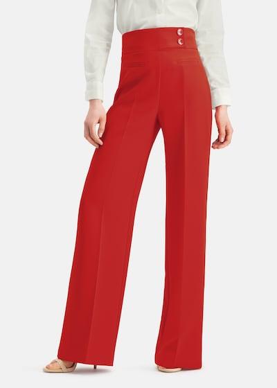 Nicowa Marlenehose 'COREANA' in rot, Modelansicht