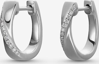 CHRIST Diamonds Damen-Creolen 24 Diamant in silber / weiß, Produktansicht