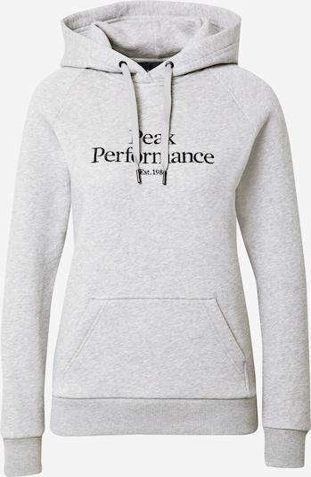 PEAK PERFORMANCE Sportsweatshirt in graumeliert / schwarz, Produktansicht
