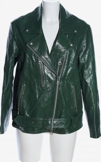 DENHAM Lederjacke in XS in grün, Produktansicht