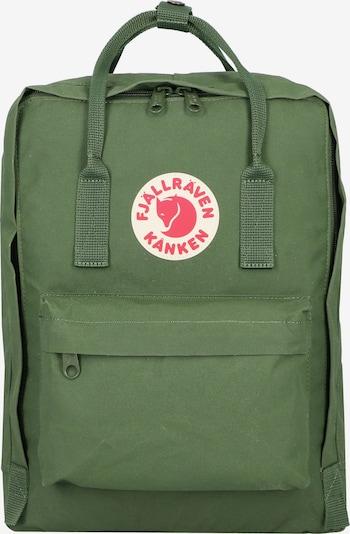 Fjällräven Rucksack 'Kanken' in grasgrün / feuerrot / weiß, Produktansicht