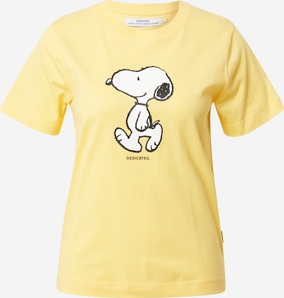 DEDICATED. T-shirt 'Mysen Snoopy' en jaune / noir / blanc, Vue avec produit