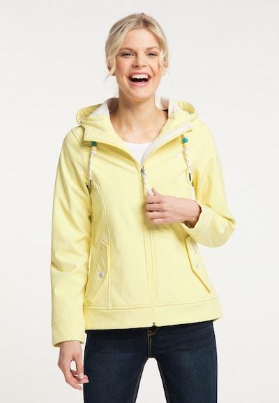 Schmuddelwedda Functionele jas in de kleur Lichtgeel: Vooraanzicht