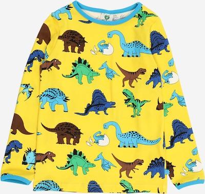 Småfolk T-Krekls 'Dino' jūraszils / debeszils / brūns / dzeltens / zaļš, Preces skats