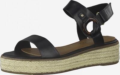 TAMARIS Sandale in beige / schwarz, Produktansicht