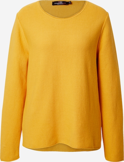 Zwillingsherz Pullover in senf, Produktansicht