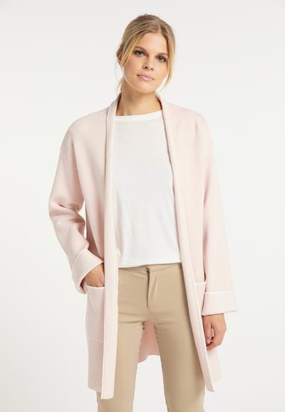usha WHITE LABEL Pletený kabátek - pastelově růžová / bílá, Model/ka