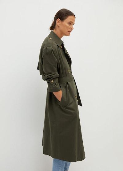 MANGO Trenchcoat 'February' in khaki, Modelansicht