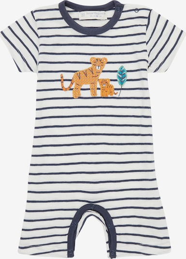 Sense Organics Pijama entero/body 'Yoeky' en navy / naranja oscuro / blanco, Vista del producto