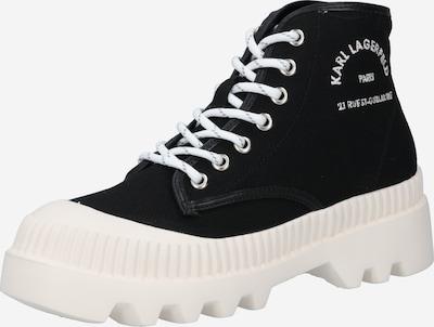 Ghete cu șireturi 'TREKKA Midsummer' Karl Lagerfeld pe negru / alb, Vizualizare produs